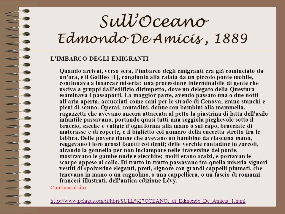 Sull'Oceano Edmondo De Amicis , 1889