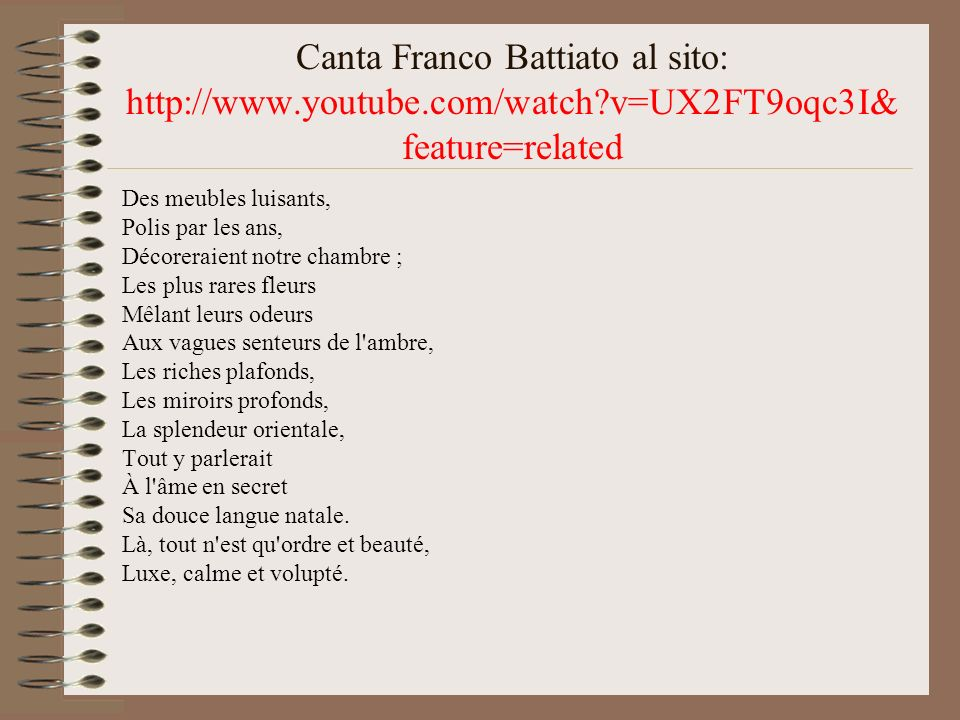 Canta Franco Battiato al sito: http://www. youtube. com/watch