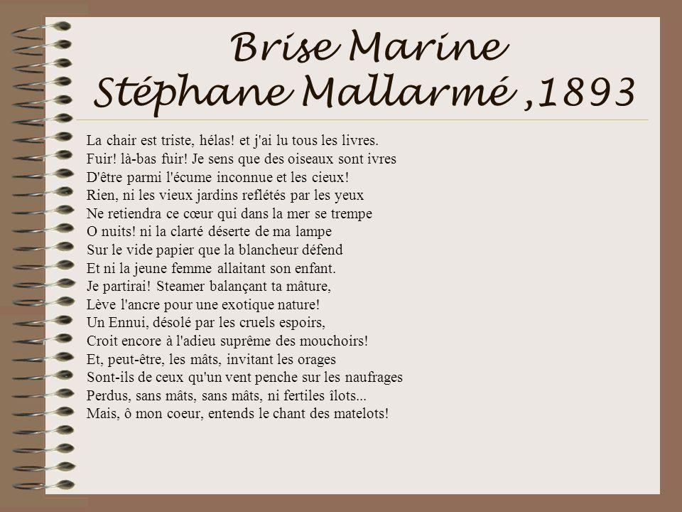 Brise Marine Stéphane Mallarmé ,1893