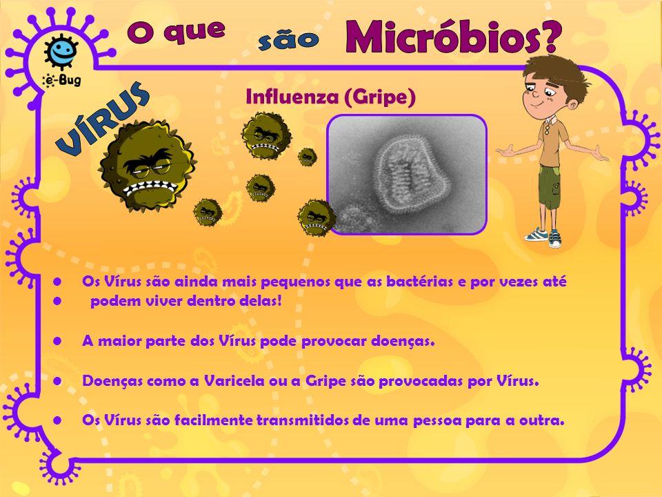 Influenza (Gripe) O que Micróbios são VÍRUS