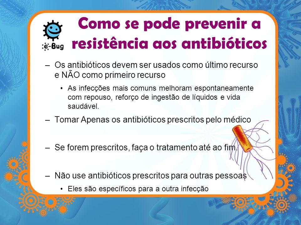 Como se pode prevenir a resistência aos antibióticos