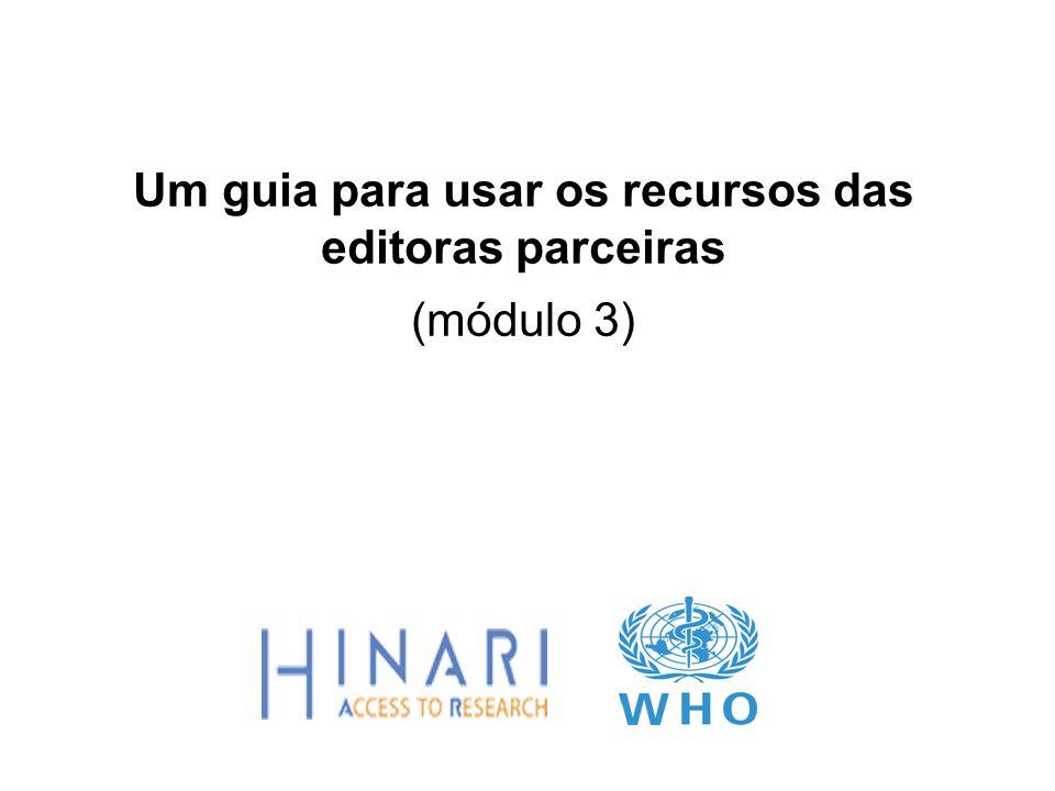Um guia para usar os recursos das editoras parceiras (módulo 3)