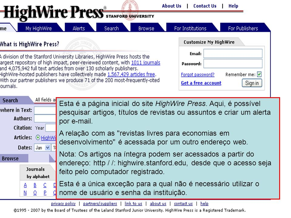 HighWire Press 3