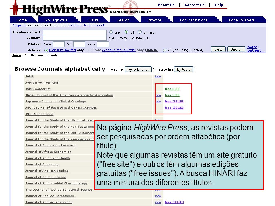 HighWire Press 4