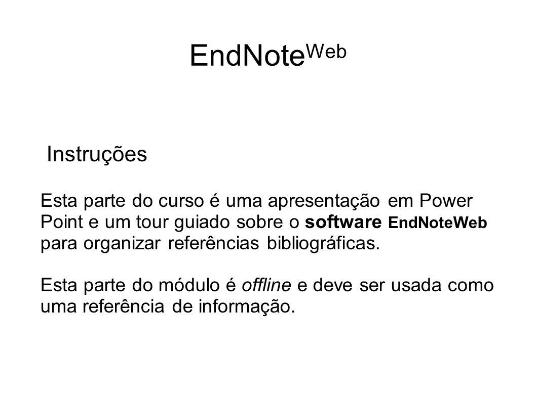 EndNoteWeb Instruções