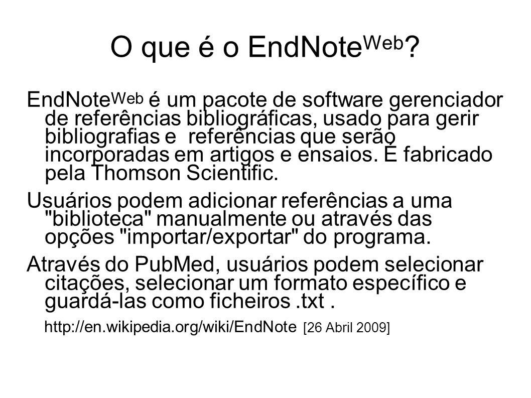 O que é o EndNoteWeb