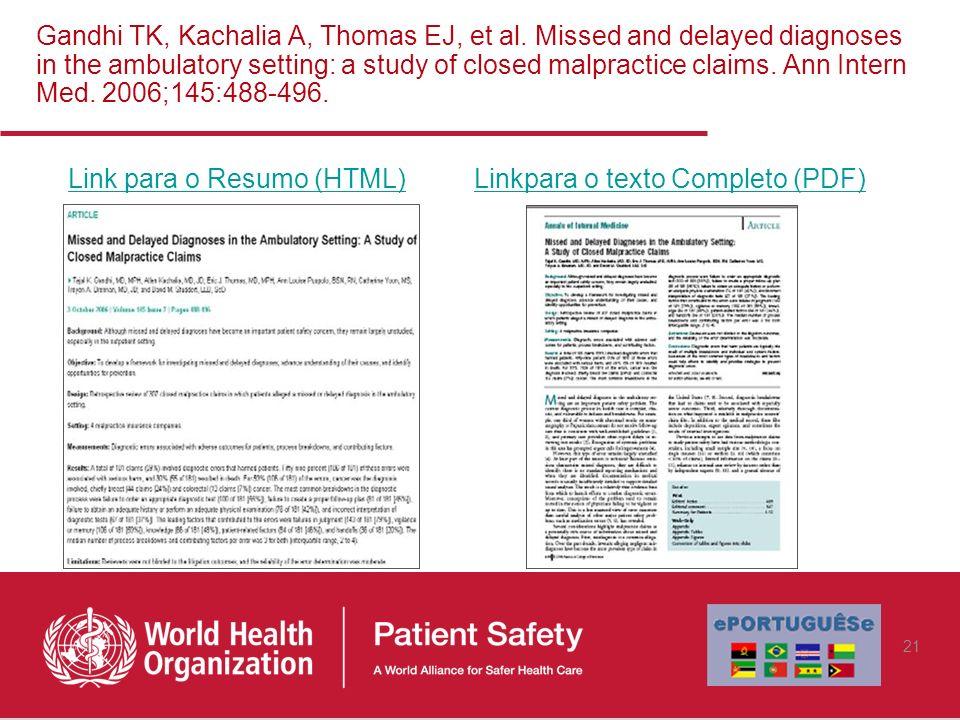 Link para o Resumo (HTML) Linkpara o texto Completo (PDF)