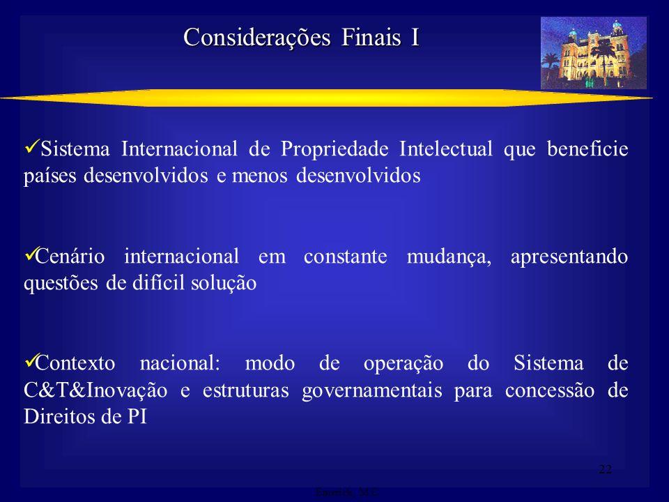 Considerações Finais I