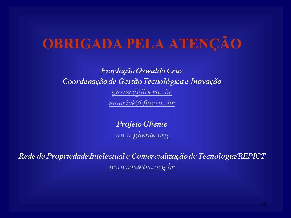 OBRIGADA PELA ATENÇÃO Fundação Oswaldo Cruz