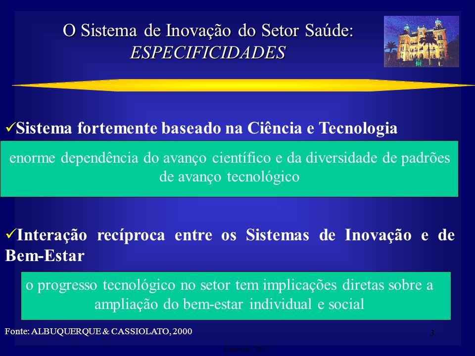 O Sistema de Inovação do Setor Saúde: ESPECIFICIDADES