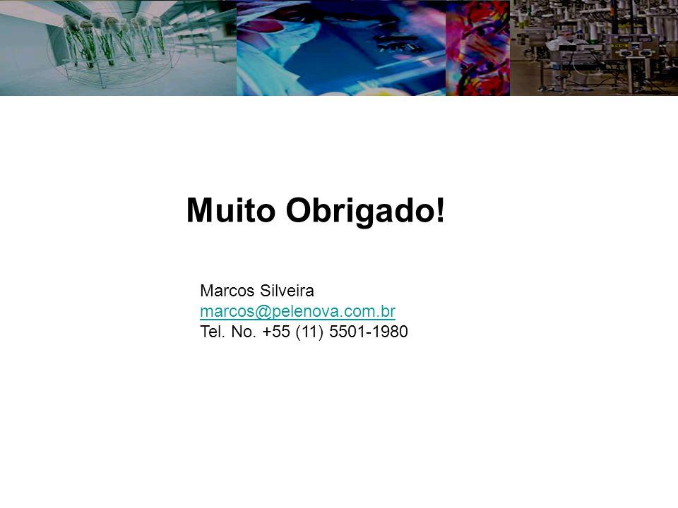 Muito Obrigado! Marcos Silveira marcos@pelenova.com.br