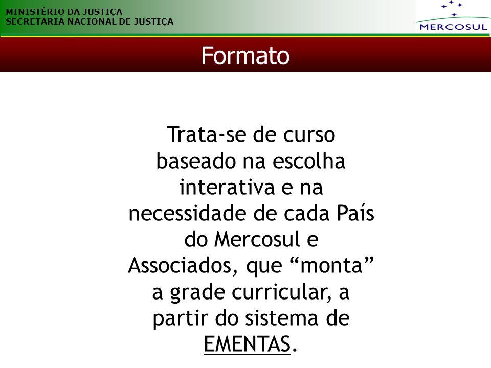 MINISTÉRIO DA JUSTIÇA SECRETARIA NACIONAL DE JUSTIÇA. Formato.