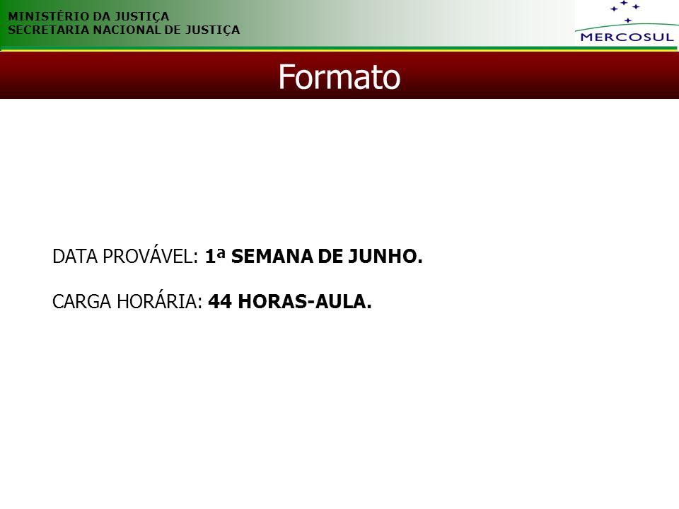 Formato DATA PROVÁVEL: 1ª SEMANA DE JUNHO.
