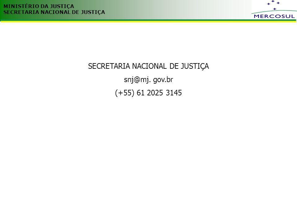 SECRETARIA NACIONAL DE JUSTIÇA
