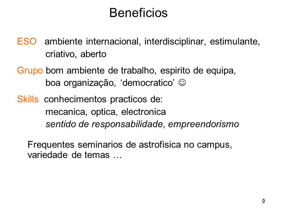 Beneficios ESO ambiente internacional, interdisciplinar, estimulante,