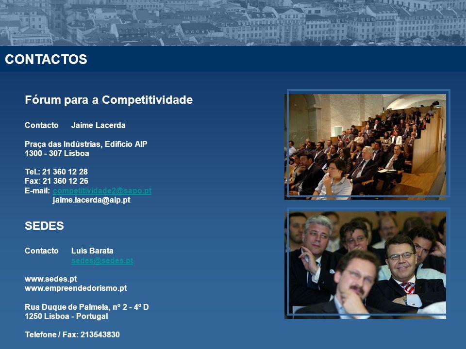 CONTACTOS Fórum para a Competitividade SEDES Contacto Jaime Lacerda