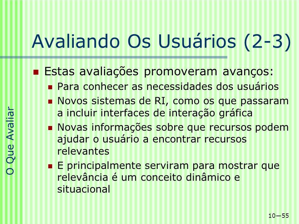 Avaliando Os Usuários (2-3)