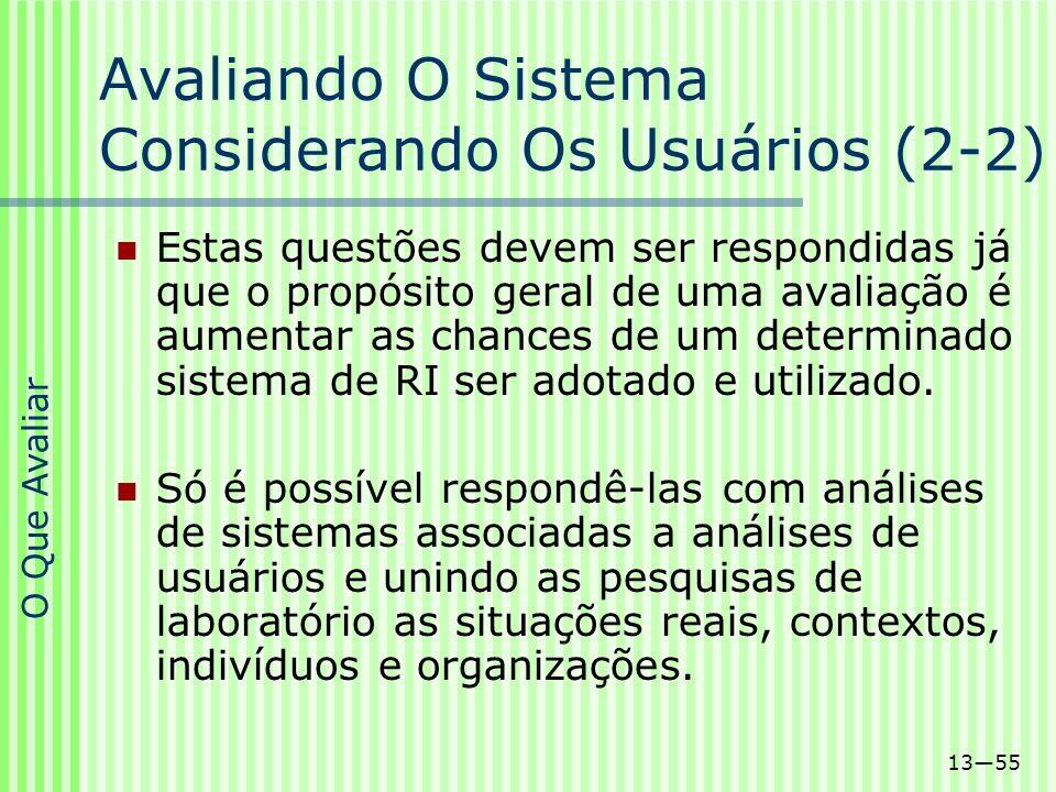 Avaliando O Sistema Considerando Os Usuários (2-2)
