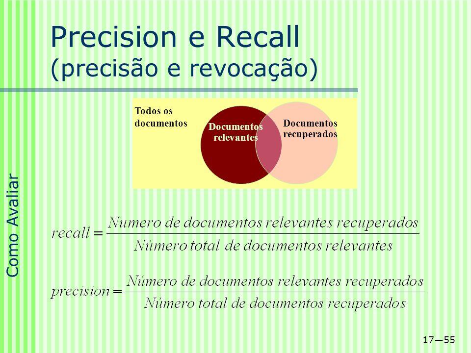 Precision e Recall (precisão e revocação)