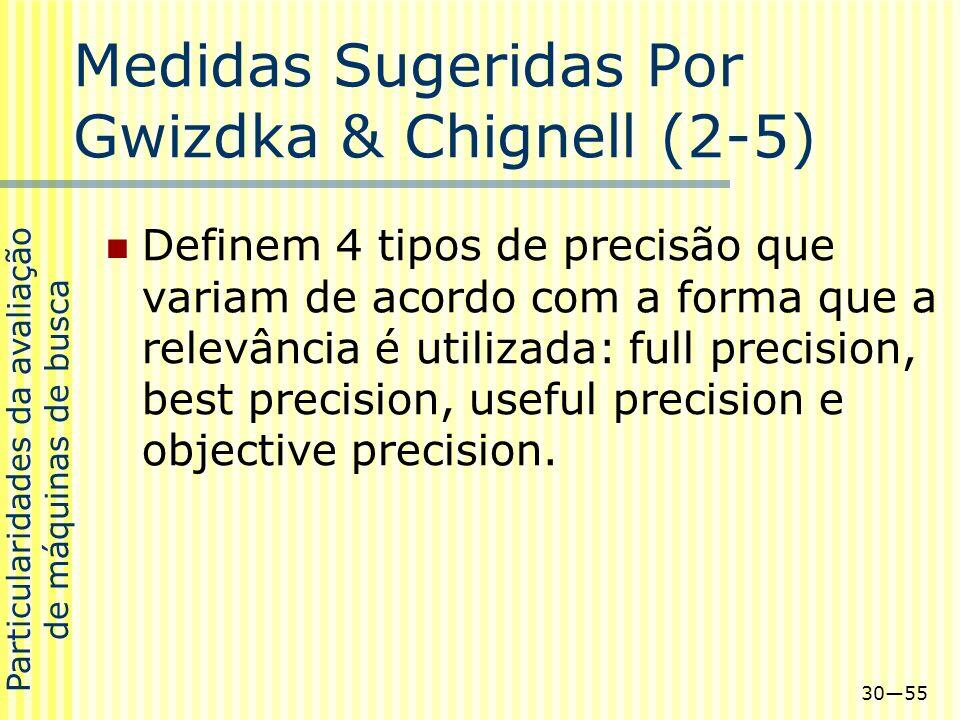 Medidas Sugeridas Por Gwizdka & Chignell (2-5)