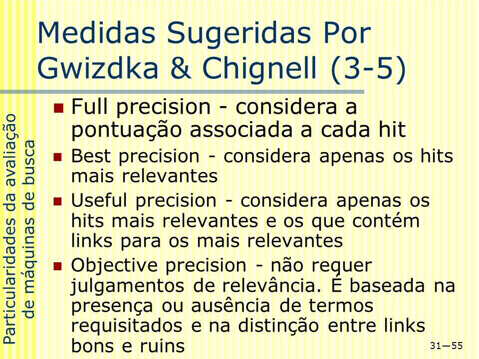 Medidas Sugeridas Por Gwizdka & Chignell (3-5)