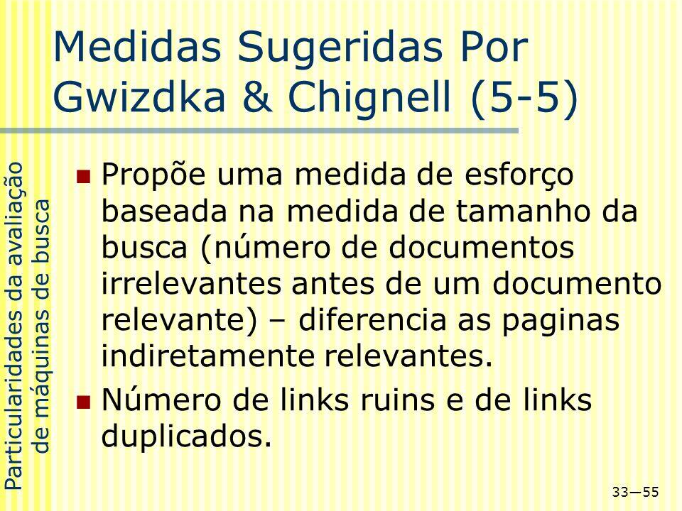 Medidas Sugeridas Por Gwizdka & Chignell (5-5)