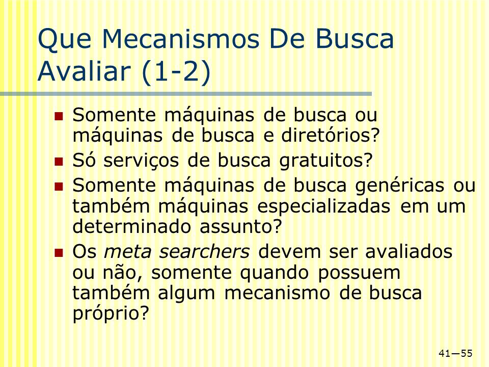 Que Mecanismos De Busca Avaliar (1-2)