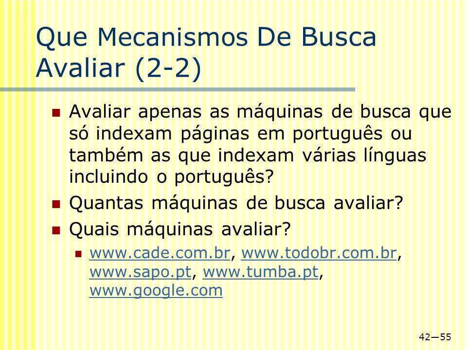 Que Mecanismos De Busca Avaliar (2-2)
