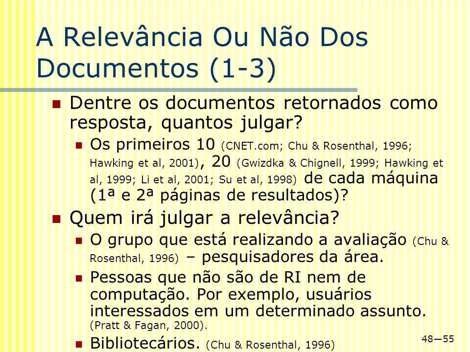 A Relevância Ou Não Dos Documentos (1-3)