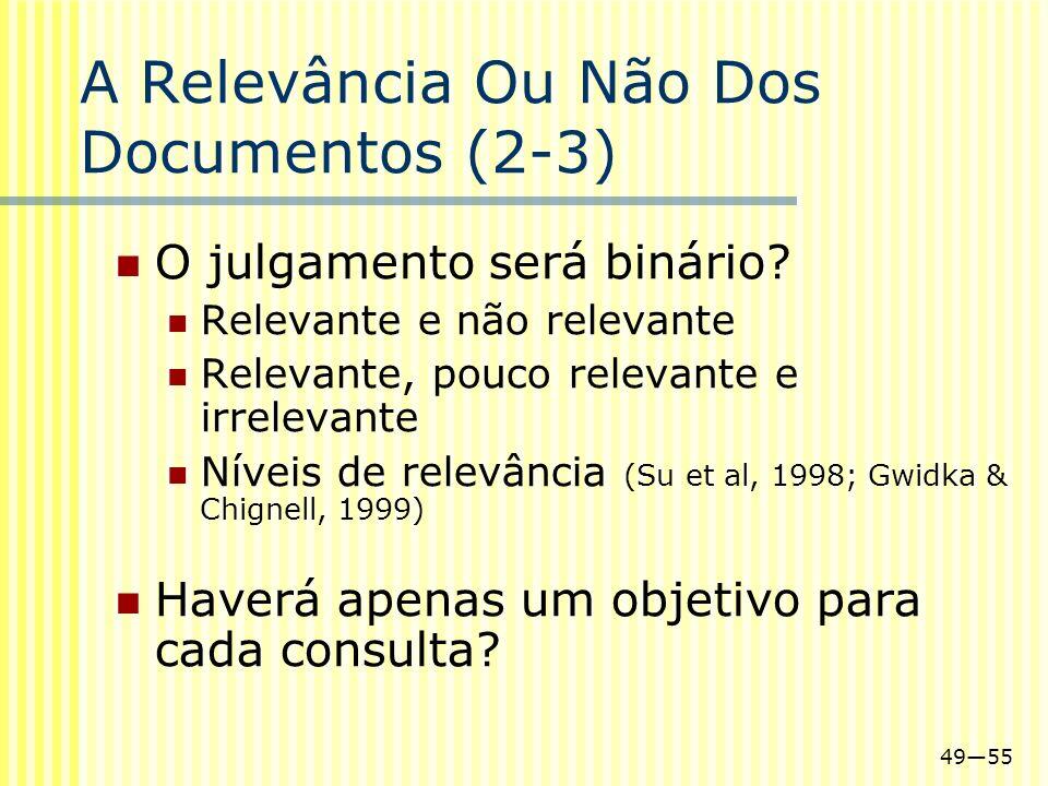 A Relevância Ou Não Dos Documentos (2-3)