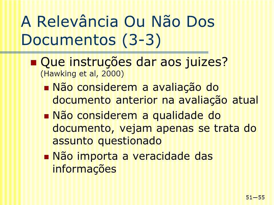 A Relevância Ou Não Dos Documentos (3-3)