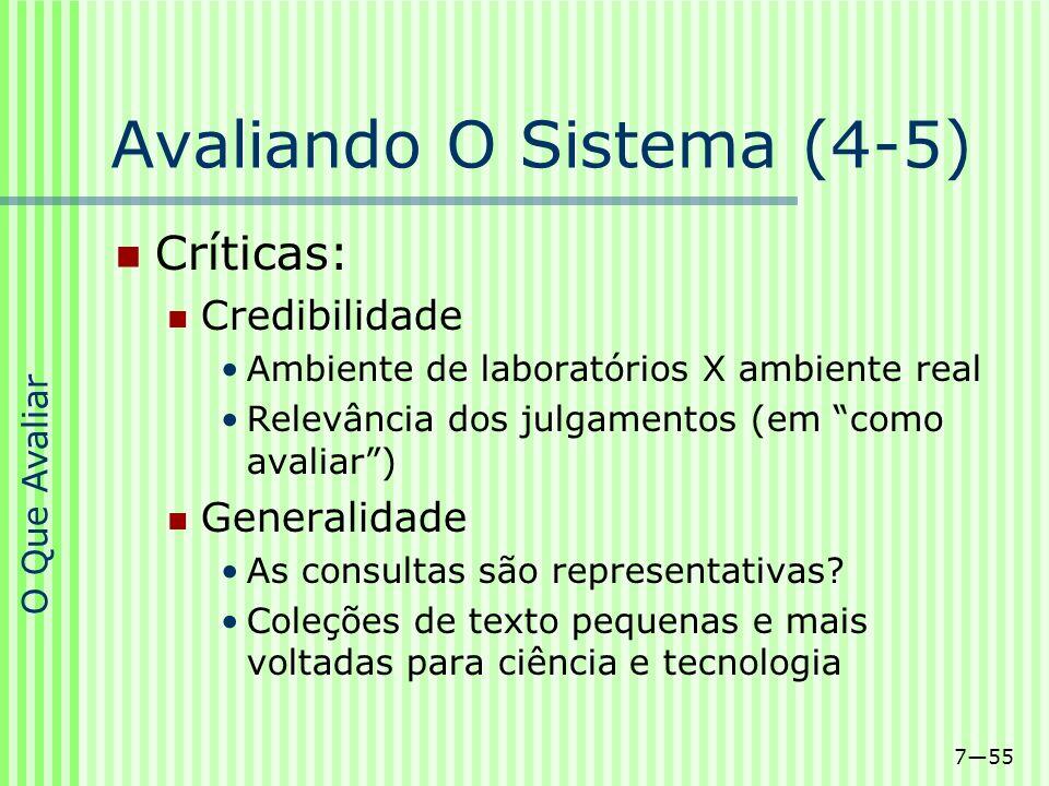 Avaliando O Sistema (4-5)