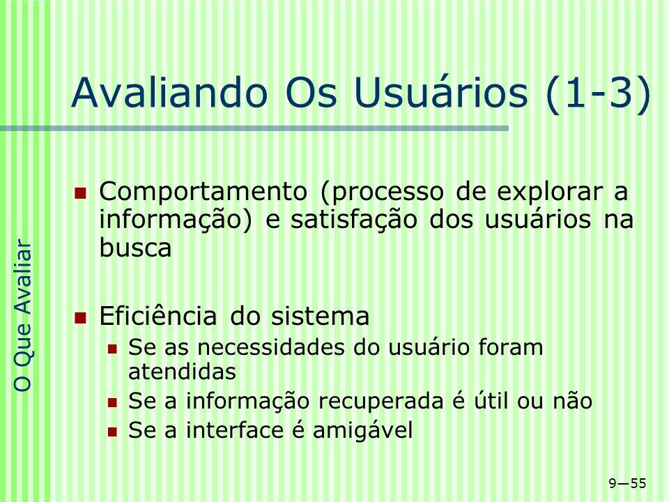 Avaliando Os Usuários (1-3)