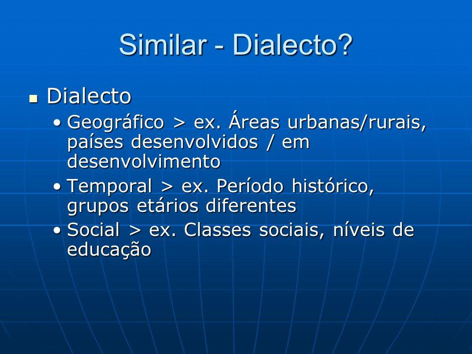Similar - Dialecto Dialecto