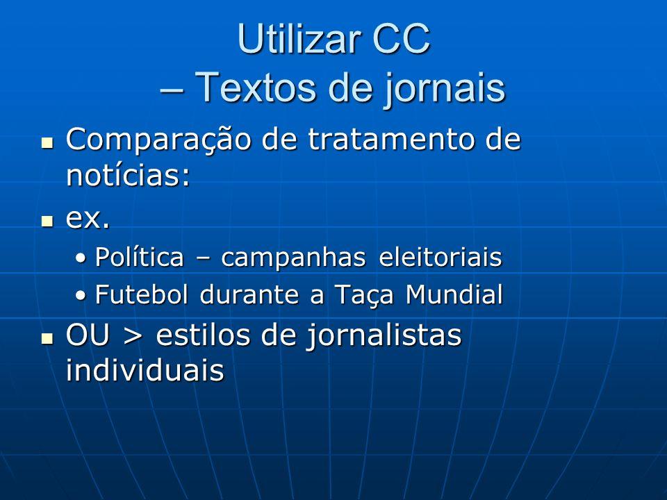 Utilizar CC – Textos de jornais