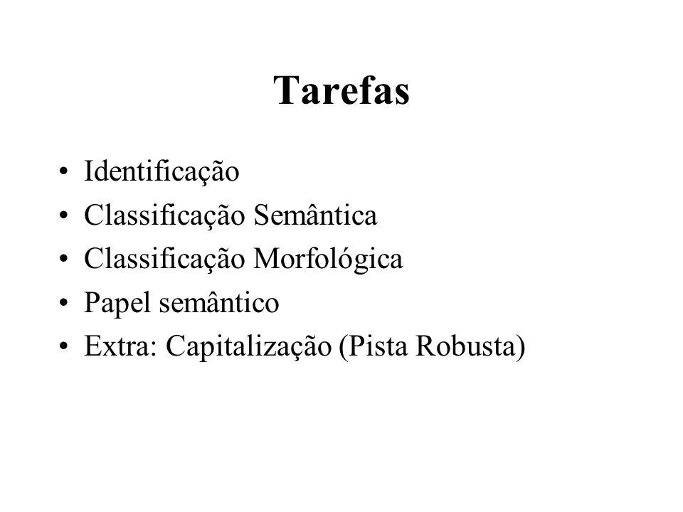 Tarefas Identificação Classificação Semântica