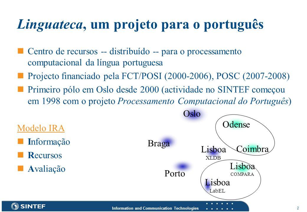 Linguateca, um projeto para o português