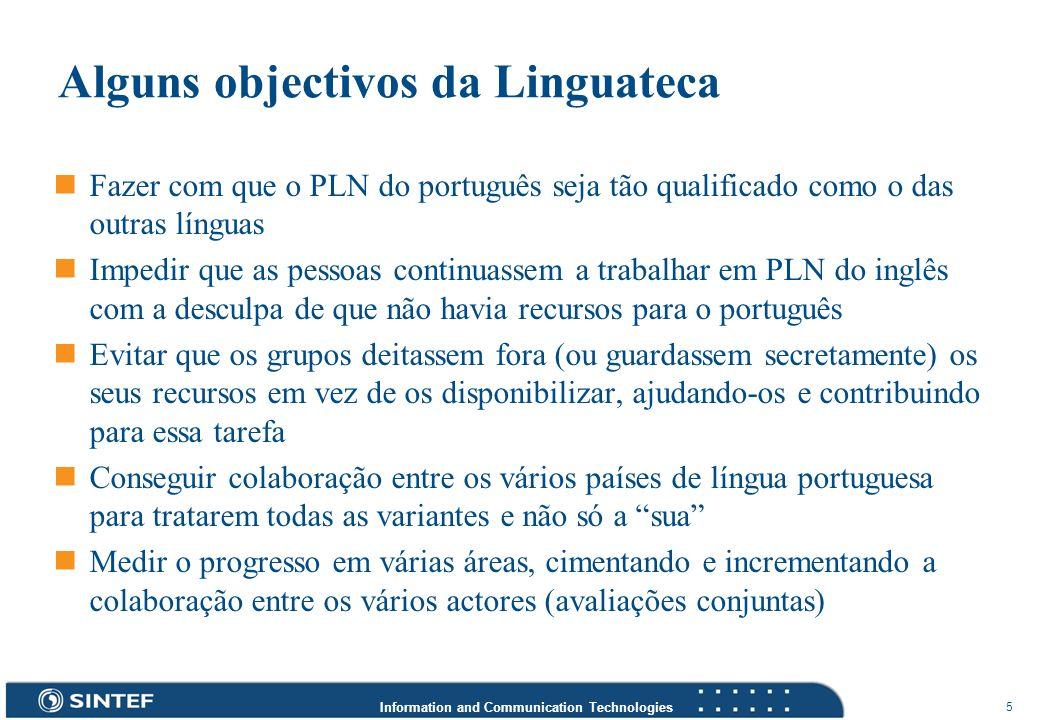 Alguns objectivos da Linguateca