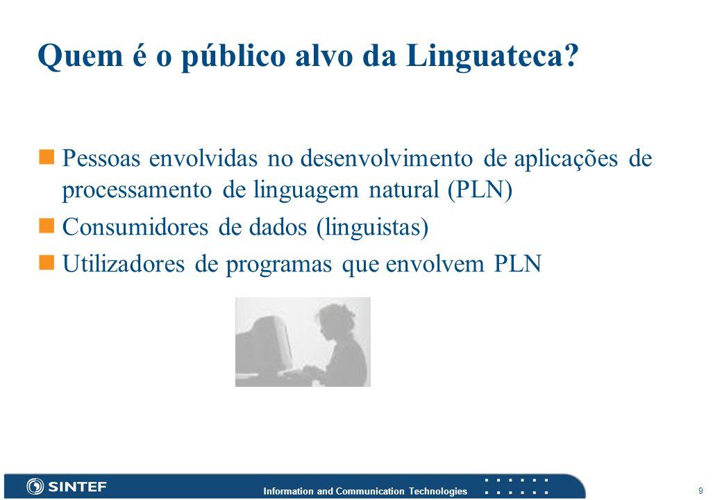 Quem é o público alvo da Linguateca