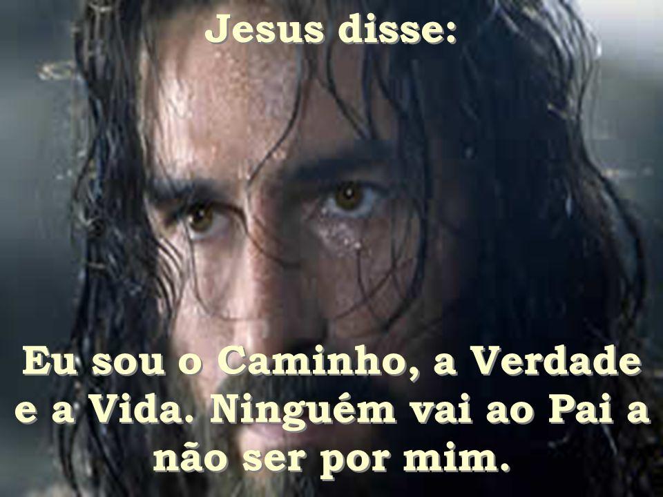 Jesus disse: Eu sou o Caminho, a Verdade e a Vida. Ninguém vai ao Pai a não ser por mim.