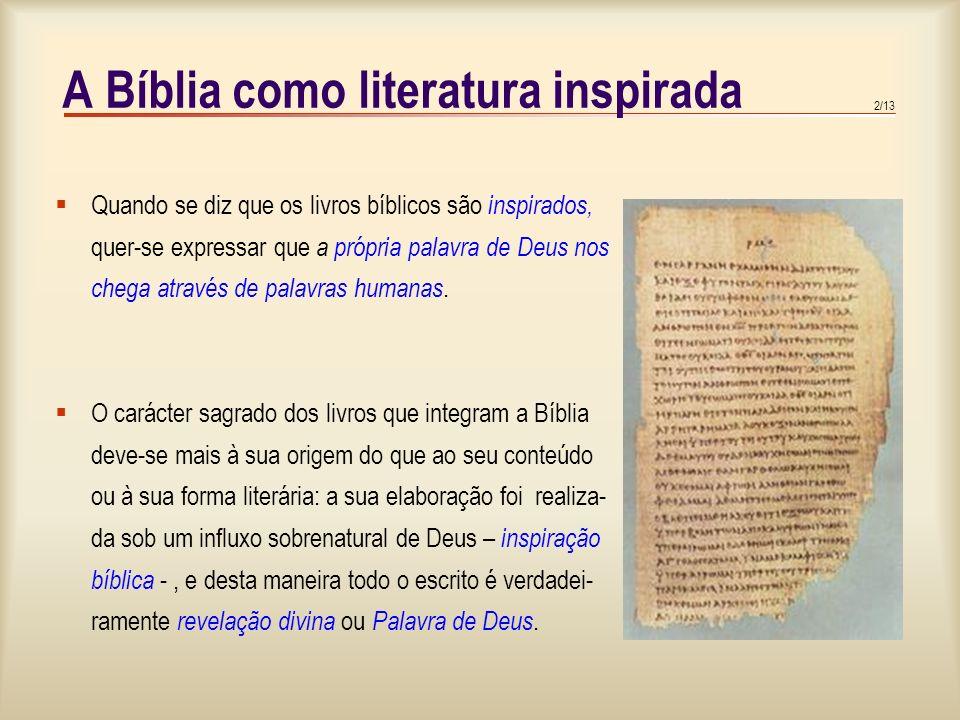 A Bíblia como literatura inspirada