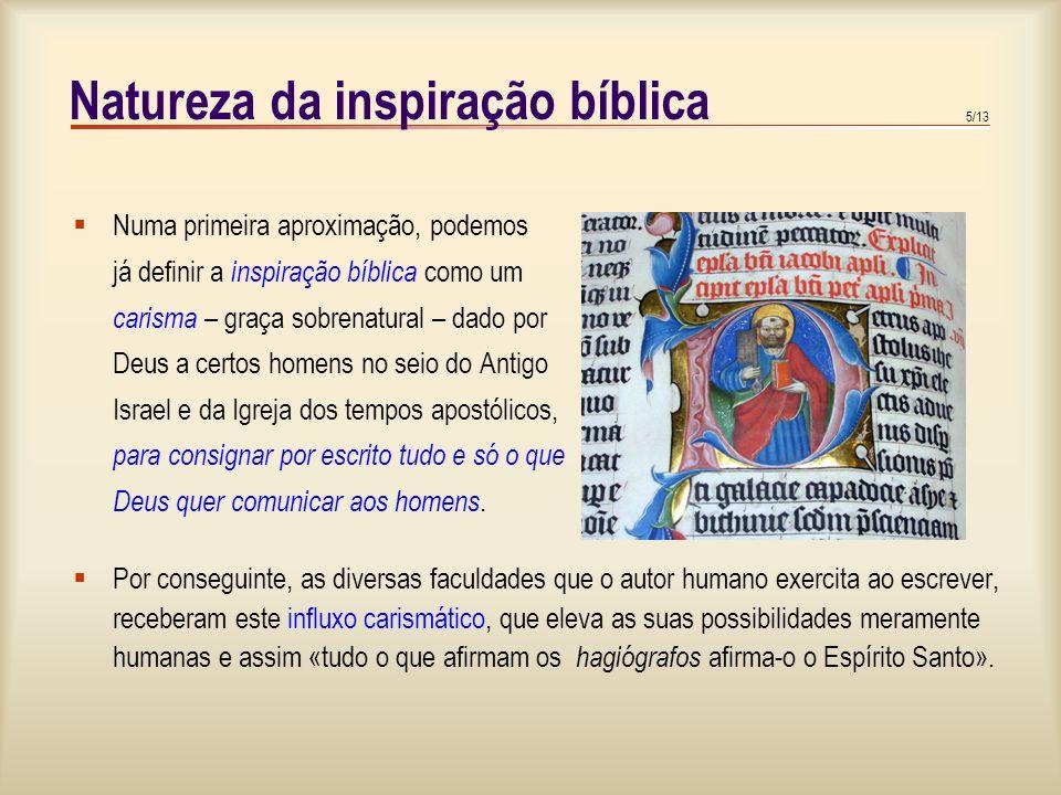 Natureza da inspiração bíblica