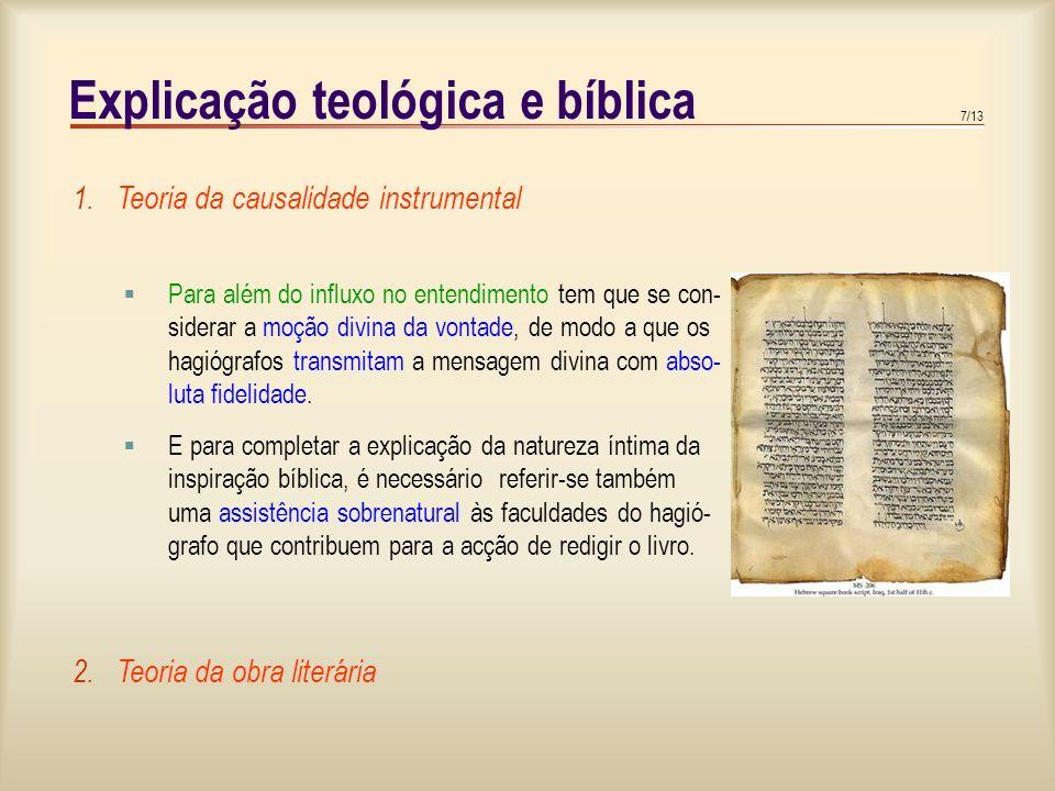 Explicação teológica e bíblica
