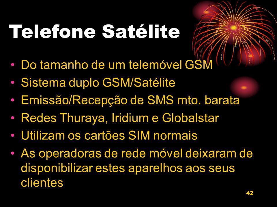 Telefone Satélite Do tamanho de um telemóvel GSM