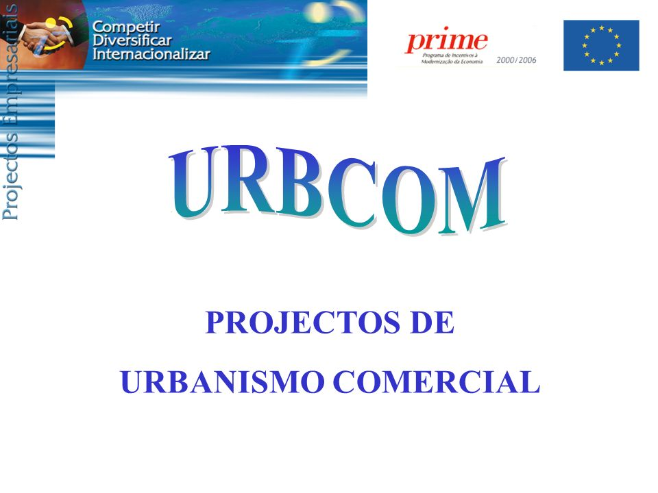 URBCOM PROJECTOS DE URBANISMO COMERCIAL