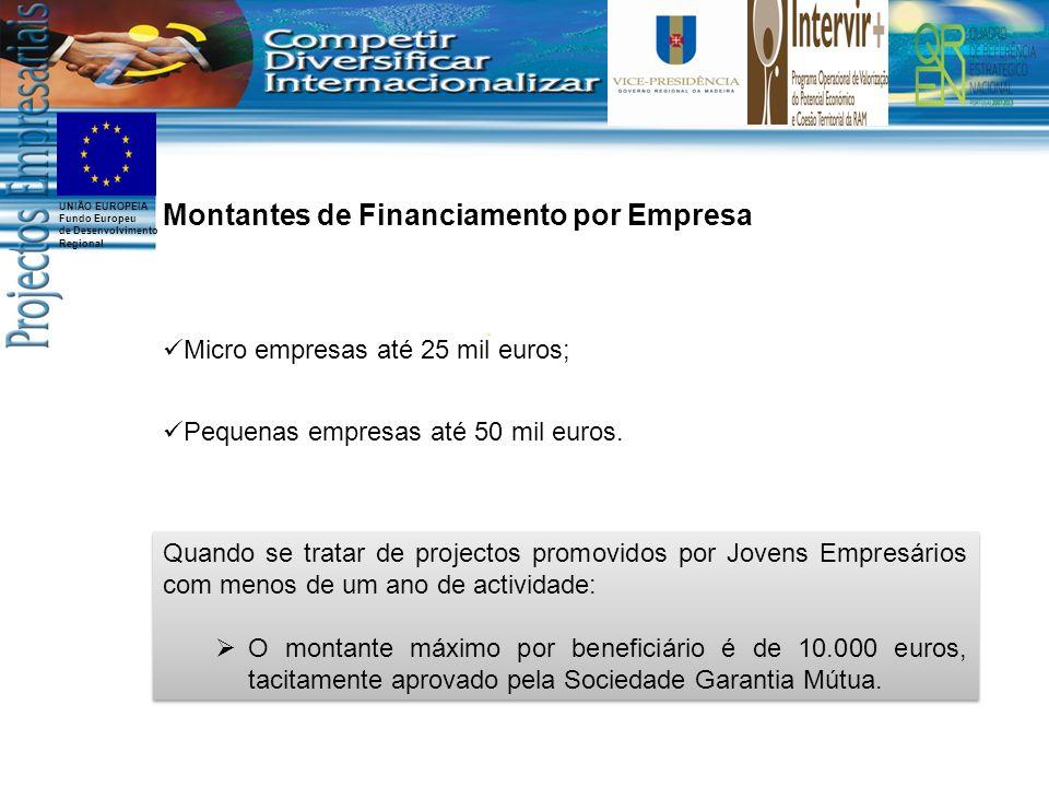 Montantes de Financiamento por Empresa