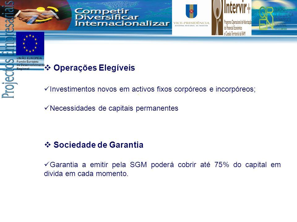 Operações Elegíveis Sociedade de Garantia