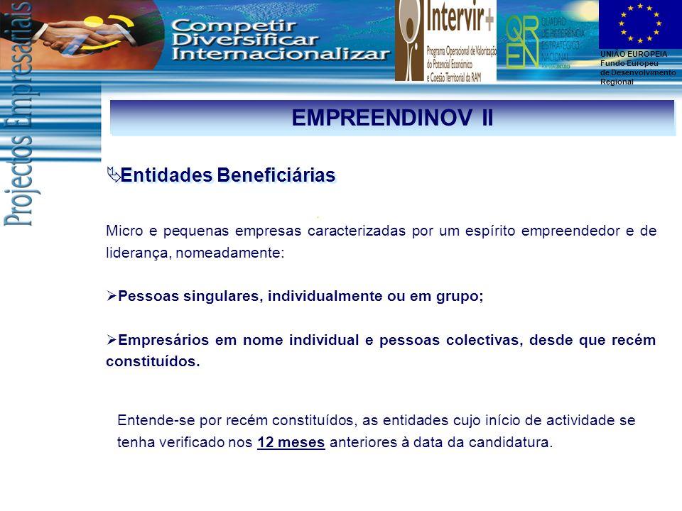 EMPREENDINOV II Entidades Beneficiárias