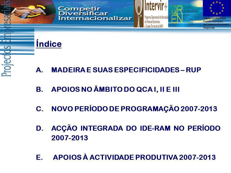 Índice MADEIRA E SUAS ESPECIFICIDADES – RUP