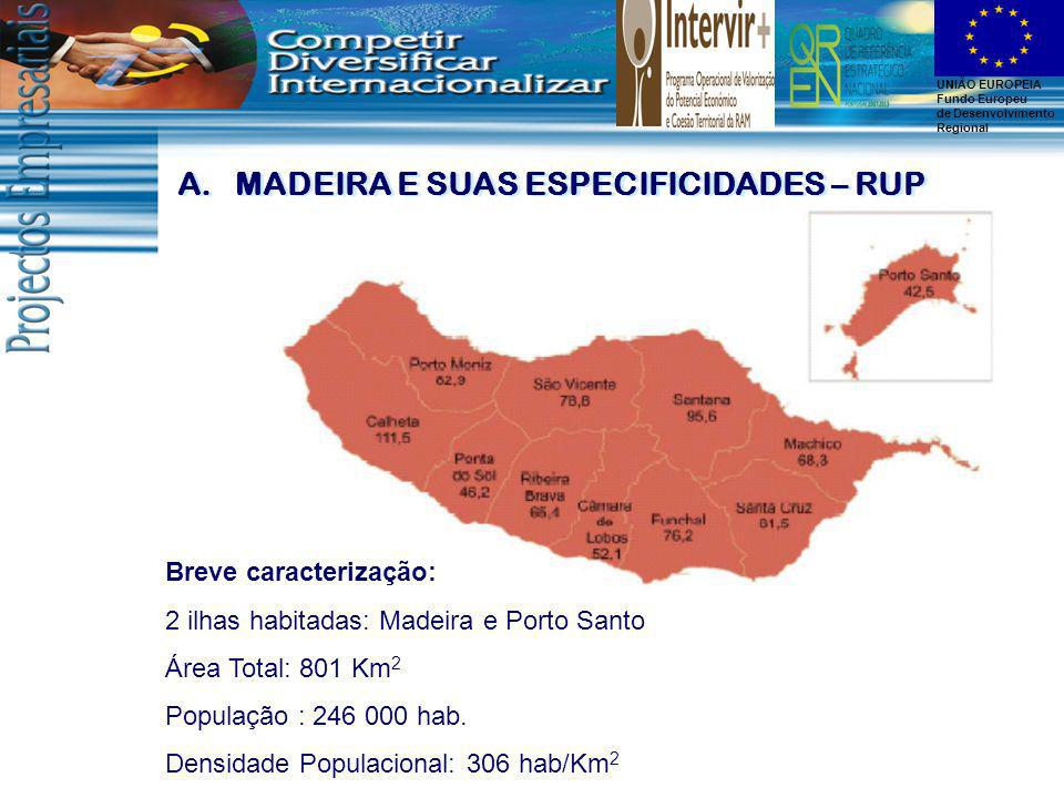 MADEIRA E SUAS ESPECIFICIDADES – RUP